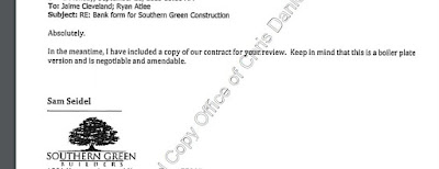 Negotiable Boilerplate Contract (Builder's Email)