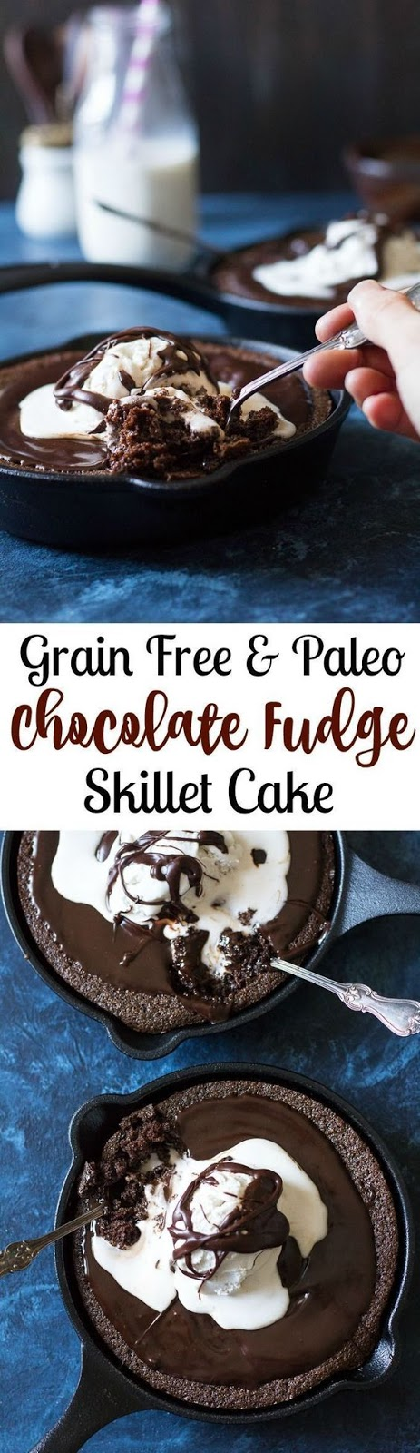 Fudgy Paleo Chocolate Skillet Cake Recipe