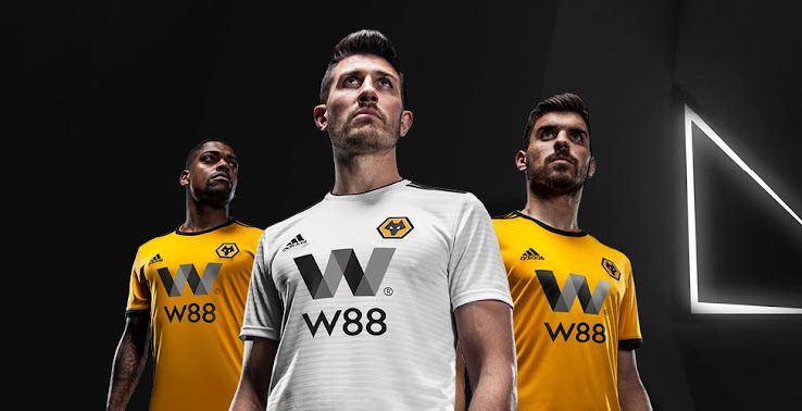 adidas wolves 18 19 premier league home away kits revealed footy headlines