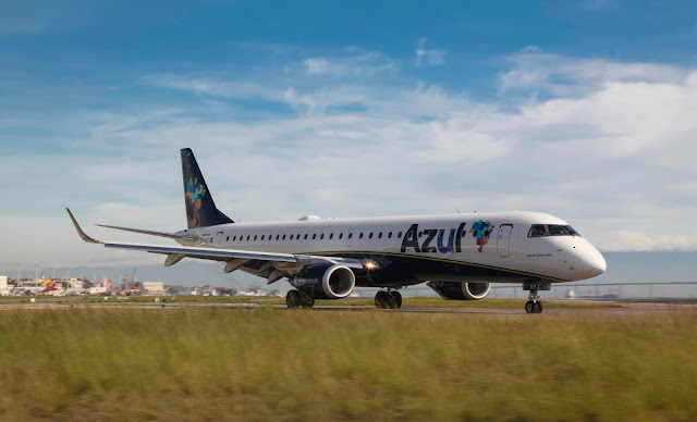 Azul Airlines With Embraer 195
