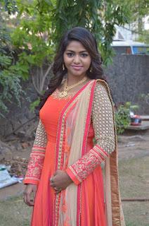 Actress Shalu Shamu Stills in Red Dress at Kekran Mekran Audio Launch 0005