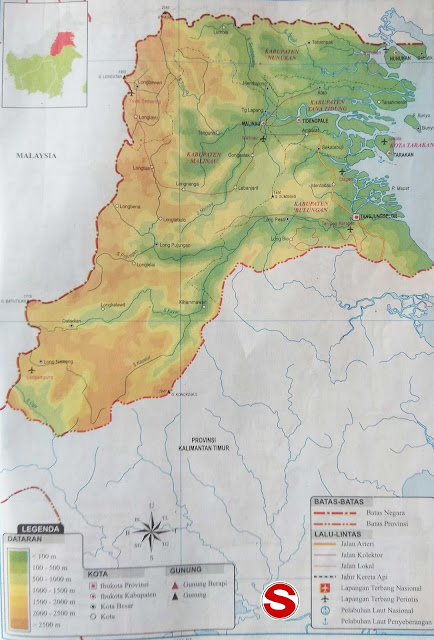 Gambar Peta Atlas Provinsi Kalimantan Utara