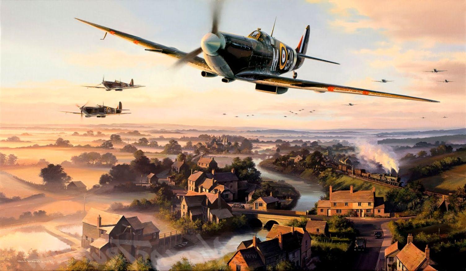 Wallpaper landscape sky airplane military aircraft World War