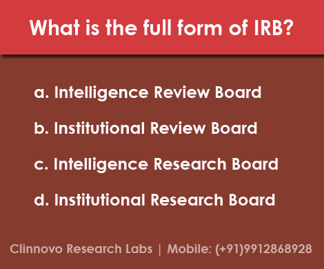 Clinnovo News: What is the full form of IRB