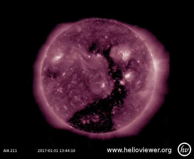 buraco coronal gigantesco - janeiro de 2017