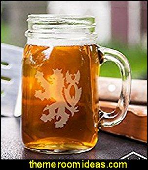 Heraldic Lion Mason Handled Jar Beer Mug Gift