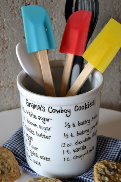 Utensil Holder with Recipe