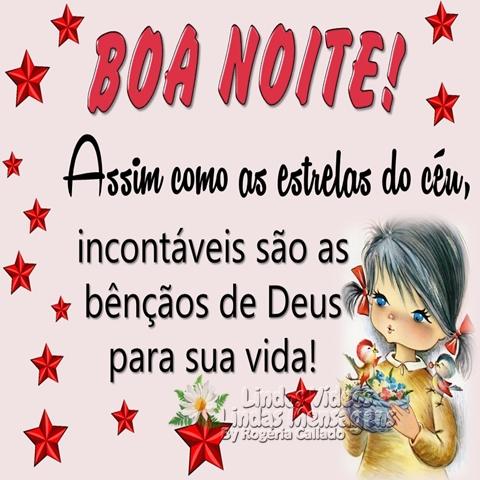 BOA NOITE! Assim como as estrelas do céu, incontáveis são as bênçãos de Deus para sua vida!