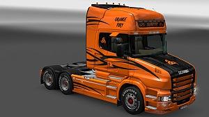 Orange Fury skin for Scania T topline