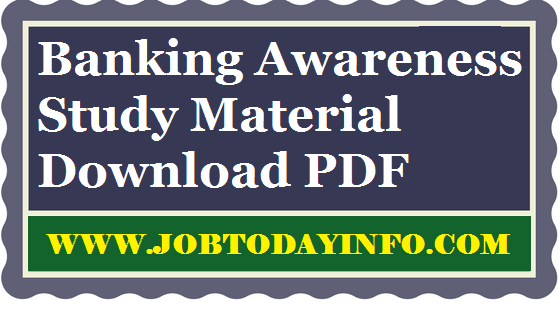 Download Banking Awareness Study Material PDF Free