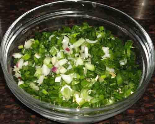 add spring onions
