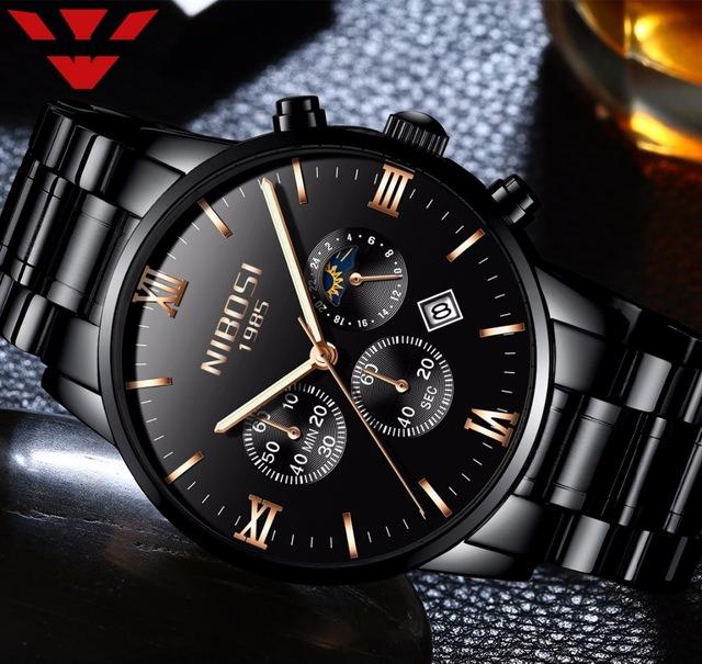 NIBOSI Watch Men Watches Luxury Famous Top Brand Men s Fashion Casual Dress  Watch Military Army Quartz Wristwatch SUN MOON STAR 544daccce8a
