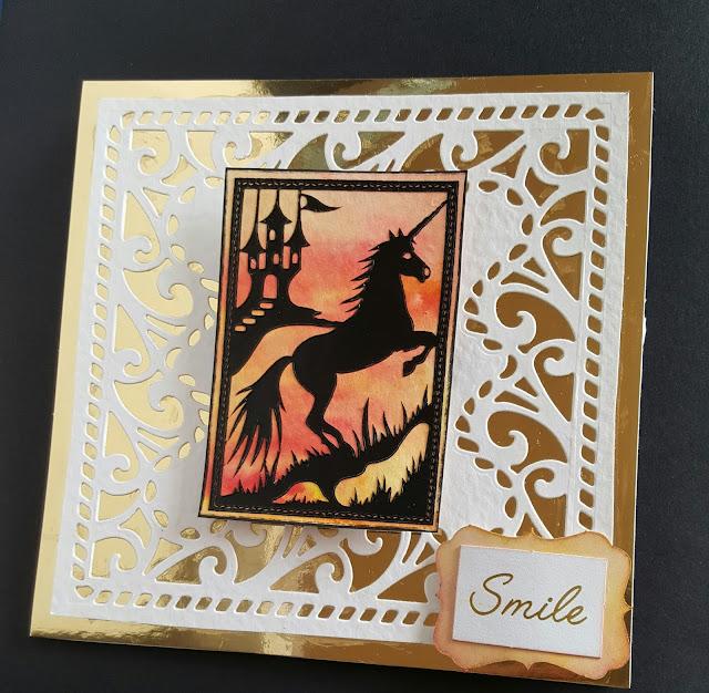 "Unicorn - Smile 6"" easel card"