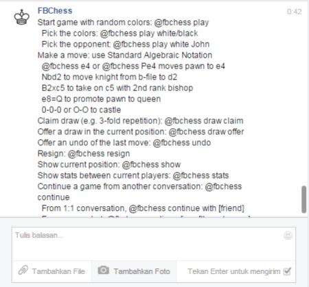 Mengaktifkan Permainan Catur pada Facebook Messenger - Help