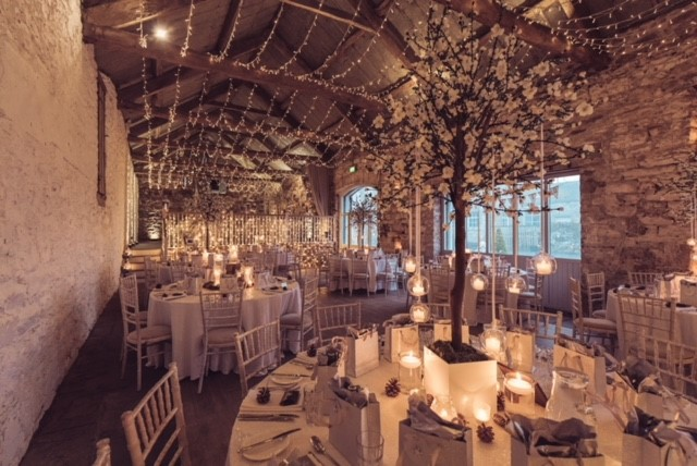 Bank Barn dressed for a wedding