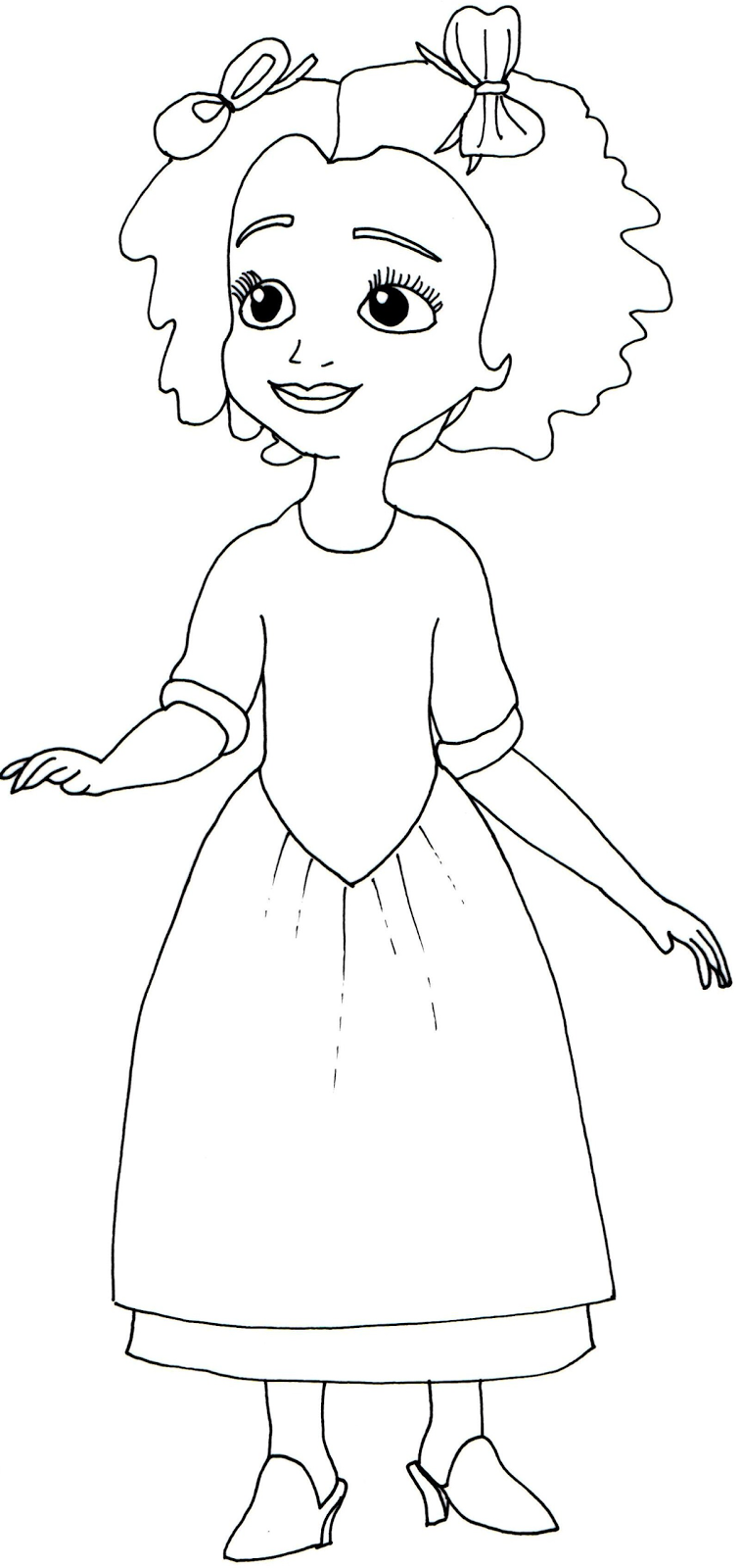 Sofia The First Coloring Pages March 2014