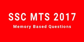 SSC MTS 2017 की परीक्षा में पूछे गए सामान्य जागरूकता के प्रश्नों का संकलन। PART - 02