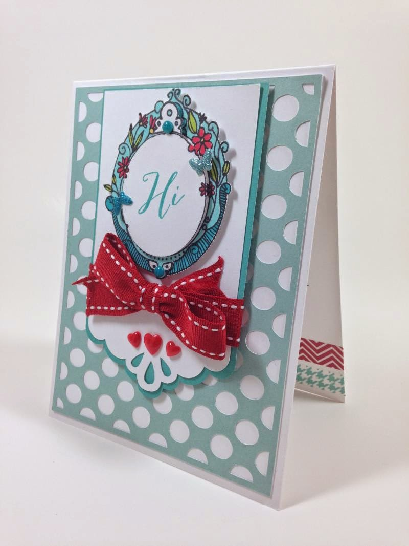 Cricut Artbooking Polka Dot card sideview