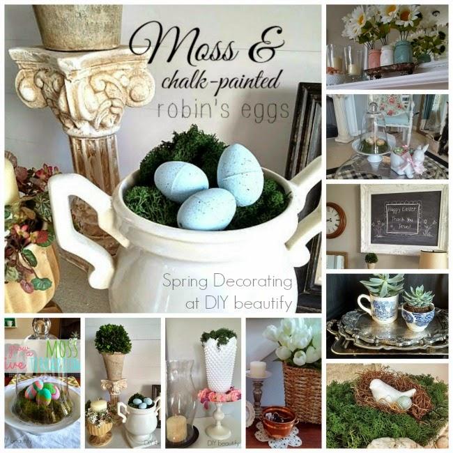 Spring Decorating www.diybeautify.com