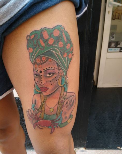 Top 50 african tattoos inspired from tribes of africa for Black african queen tattoos