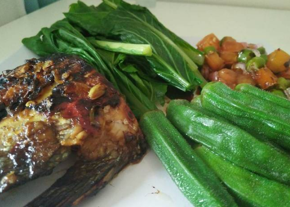 Ikan Bakar Gurame Teflon sambal dabu dabu
