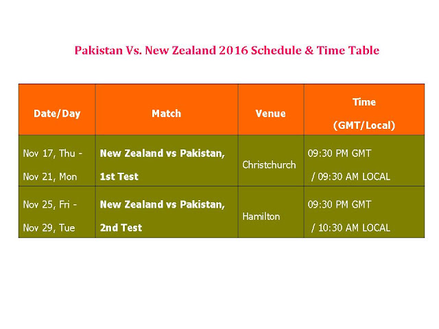Pakistan Vs New Zealand 2016 Schedule & Time Table,Pakistan tour of New Zealand 2016,PAK vs NZ 2016 series,New Zealand vs Pakistan 2016 schedule,fixture,time table,local time,GMT IST local time,match detail,New Zealand Pakistan series,ODI series,test series,t20 series,full match schedule,icc cricket calendar,all schedule,Pakistan vs New Zealand 2016,cricket schedule,venue,day date,place,match timing Pakistan Vs  New Zealand 2016 Schedule & Time Table