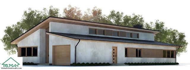 Denah Model Desain Gambar Rumah Minimalis Idaman Modern Tipe 309