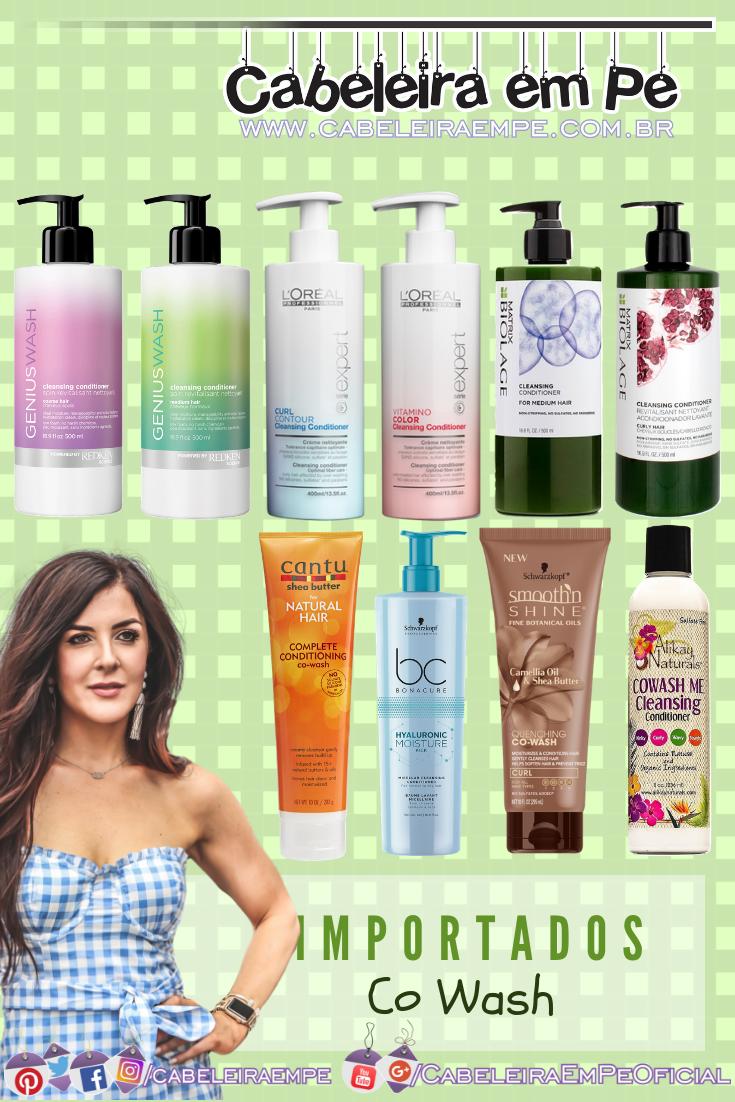 Produtos para Co wash Importados Redken, L'Oréal Professionnel, Matrix Biolage, Cantu, Schwarzkopf e Alikay (No Poo)