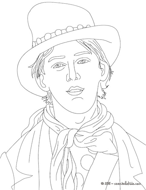 Jack London Billy The Kid Coloring Page  Coloring Page  Famous People Coloring  Pages  Famous American