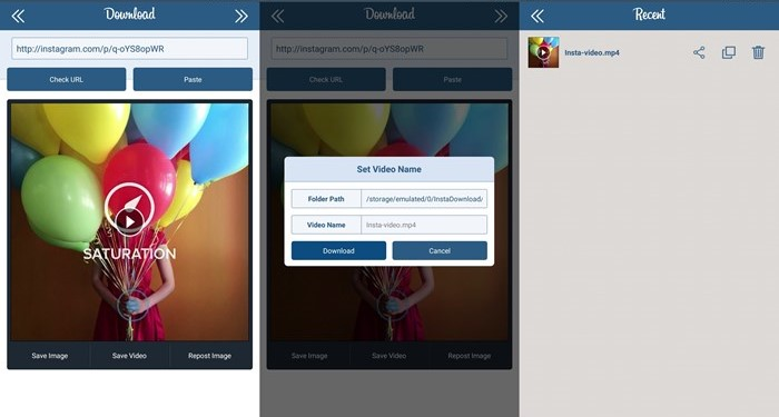 Download Instagram Videos android