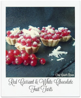 These small individual fruit tarts are amazingly delicious with the creamy creme patisserie countering the sharp taste of the beautiful red currants.  Perfect for the festive season.