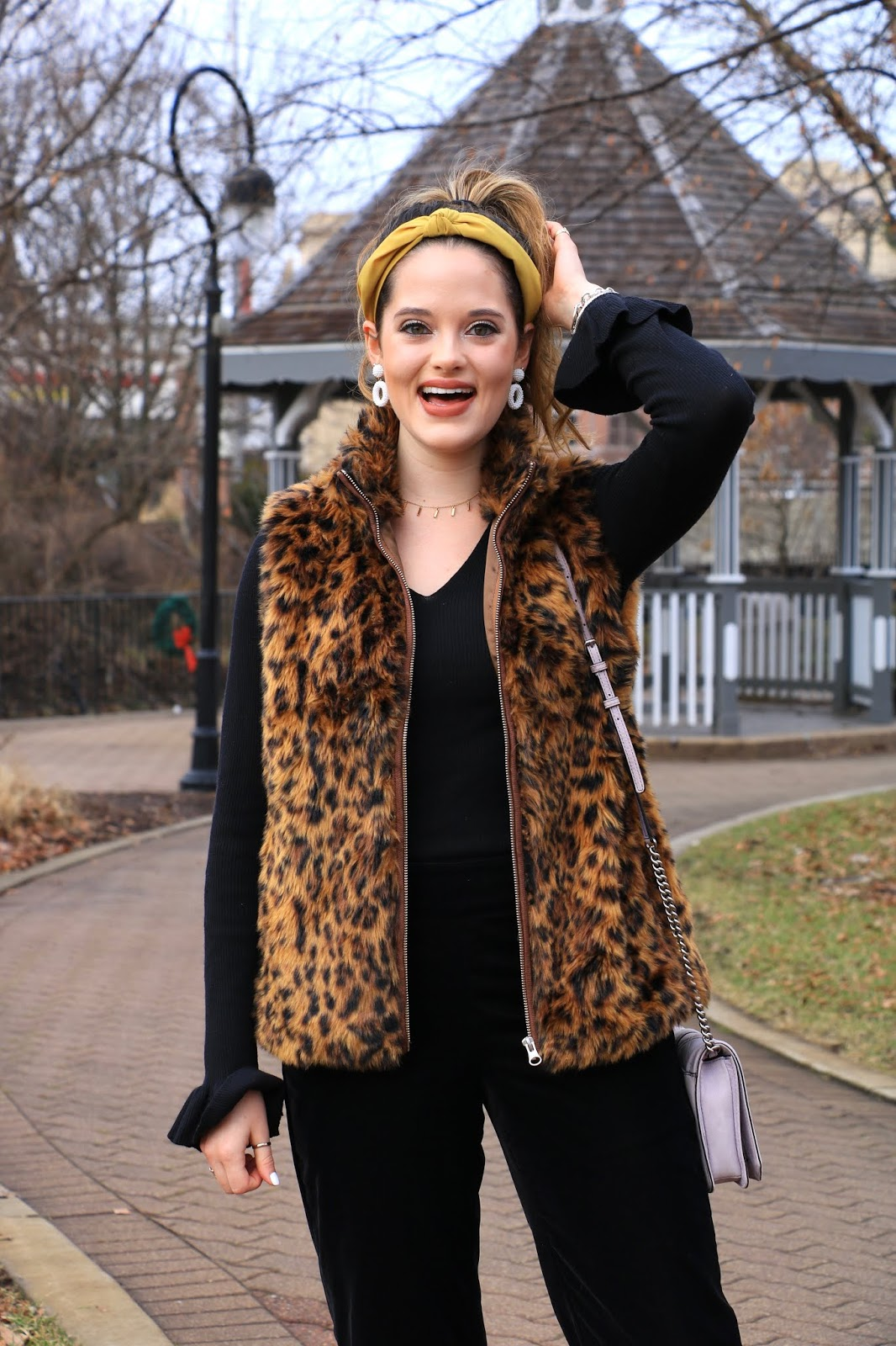 Nyc fashion blogger Kathleen Harper's headband outfit