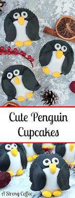 These cute penguin cupcakes are easy to make and great for a Christmas Party. You can even stand them up!