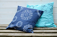 http://www.pillarboxblue.com/how-to-doily-stencil-a-cushion/