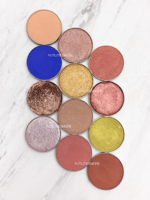 KYLIE COSMETICS THE ROYAL PEACH PALETTE DUPES WITH MAKEUP GEEK EYESHADOWS, futilitiesmore, futilitiesandmore, futilities and more, dupes, makeup geek