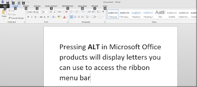 ALT keyboard shortcut Microsoft Office Word - One Cool Tip www.onecooltip.com