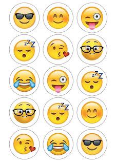 printable emoji cupcake toppers