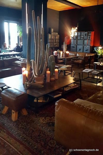 Lobby und Bar Hotel Speicher 7 in Mannheim