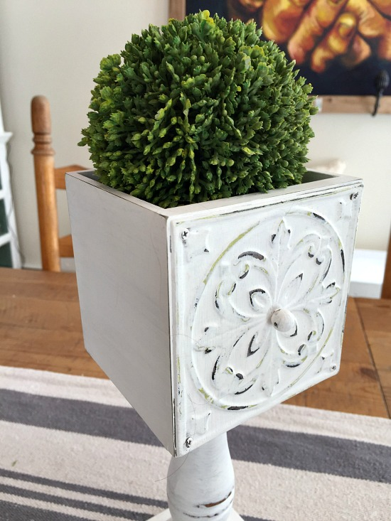 Repurposed Drawer Pedestal Dish