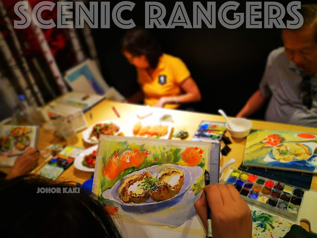 Food Sketching with Scenic Rangers at Noodle Place @ Orchard Gateway 猎影骑兵