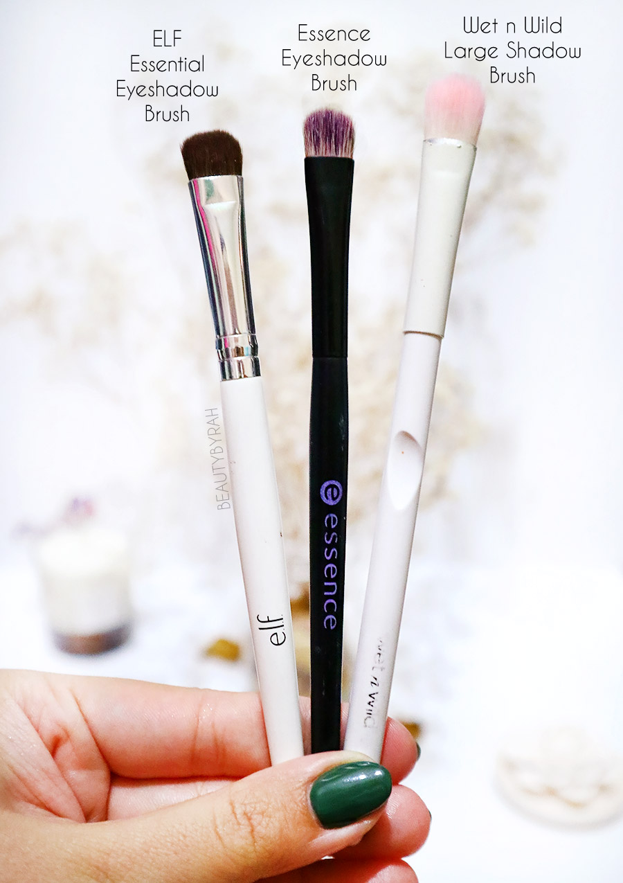 Top affordable eyeshadow brushes - Essence eyeshadow brush Wet n Wild Large Shadow Brush