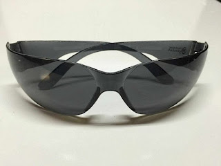 Safety Glasses - Anti scratch, Anti fog, Anti UV Safety Sunglasses in Dark Smoke Color- OSHA Compliant ANSI Certified, Great Mororcycle Glasses, Hunting Glasses, Shooting Glasses by Herbster Eyewear