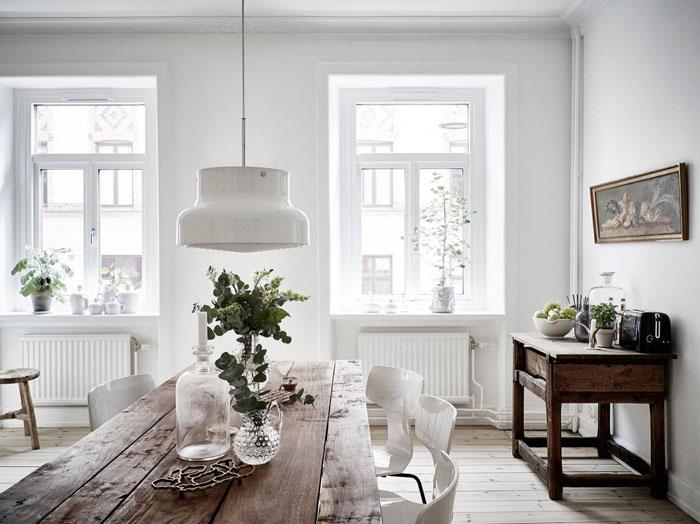 white interior, bright apartment, simple interior styling