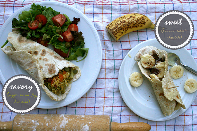 http://be-alice.blogspot.com/2016/10/tortillas-2-ways-vegan-sweet-savory.html