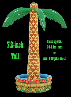Inflatable PVC PALM TREE COOLER Luau Pirate Party Decoration-6FT