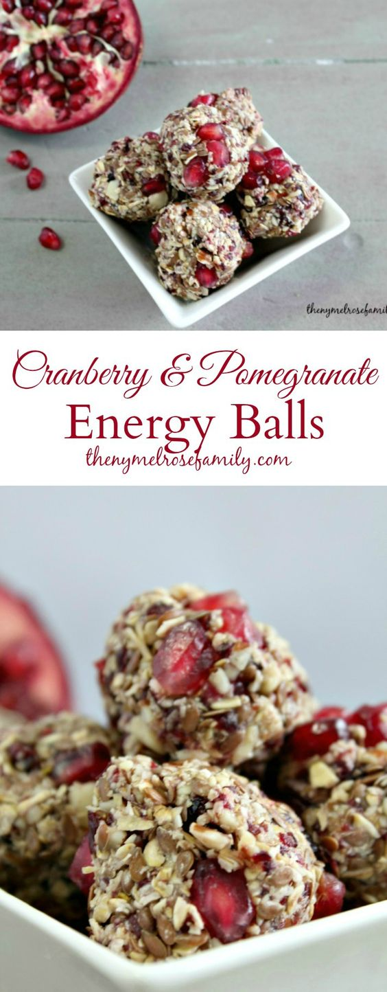 Cranberry & Pomegranate Energy Balls