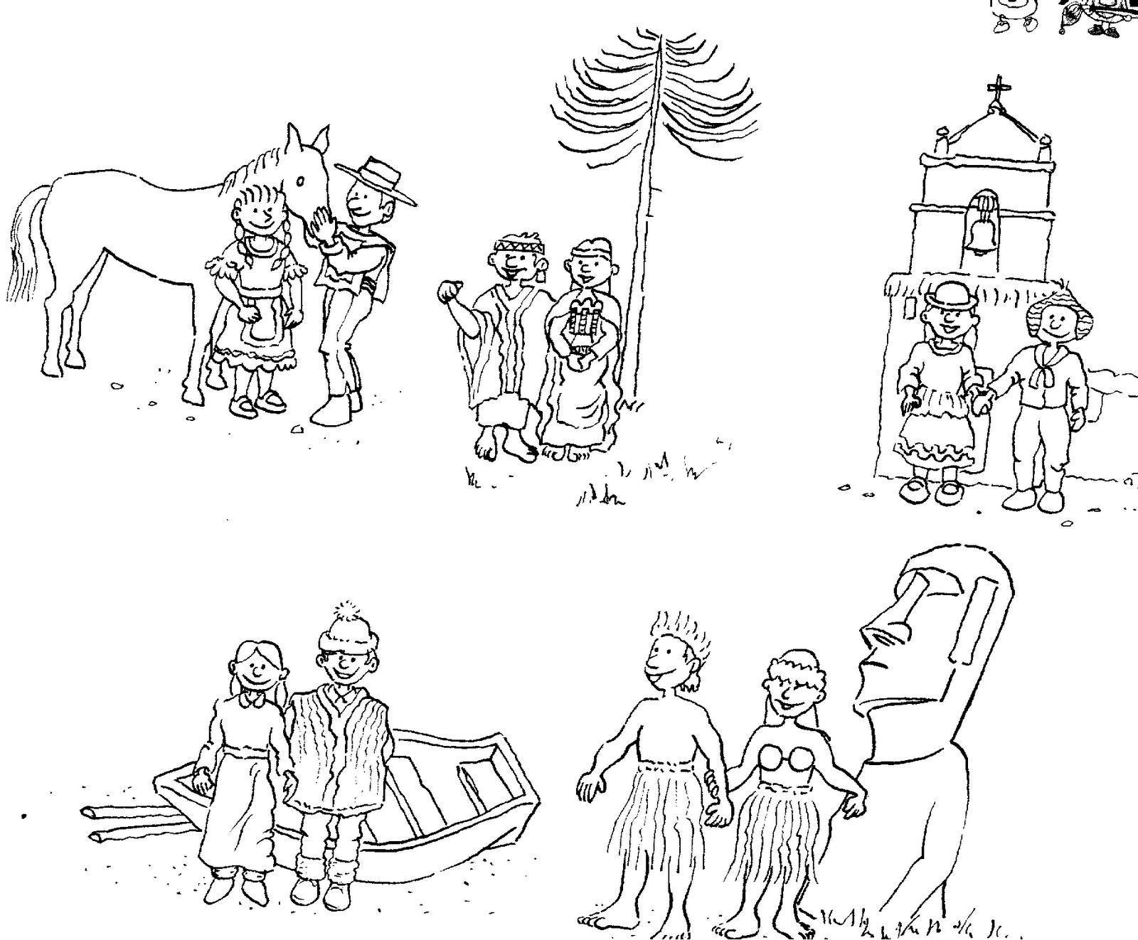 Dibujos Para Colorear Sobre Fiestas Patrias Chilenas Resultado De