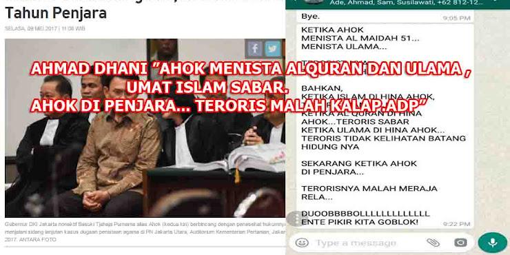Ahok Nistakan Al Qur'an dan Ulama, Umat Islam Sabar, Ahok Dipenjara Teroris Ngamuk, Kalap Merajalela
