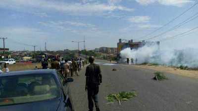 Deeper Life church members escape death as a bus bursts into flames in Lagos4