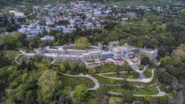 Воронцовский дворец. Крым. С высоты птичьего полета